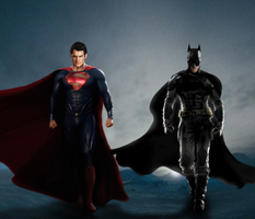 BATMAN + SUPERMAN - MAN OF STEEL: WORLD'S FINEST by MrSteiners