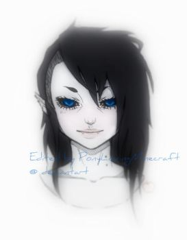 Marceline Fan Art Edited #4 by PonyLovingMinecraft
