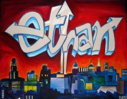 Grafitti Skyline by Pudsybear