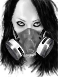gas mask by lostsoulzprophet