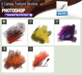 5 Canvas Textured Photoshop Brushes by pixelstains
