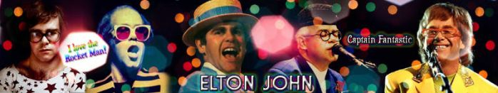 Elton John Fan Banner by RetroReginald