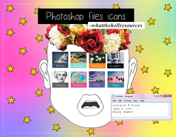 Photoshop Files | ICONS by WhatTheHellResources