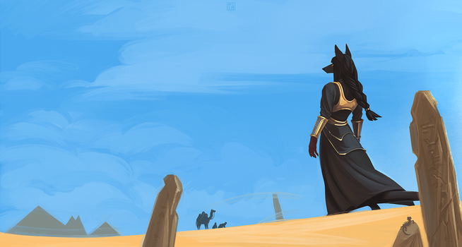Desert Overseer by TheAzimuth