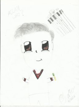 Chibi of Allan as the 11th Doctor by rhythmofyouth