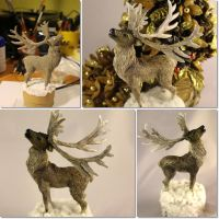 Polymer clay reindeer by Ladybird18