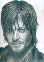 Norman Reedus as Daryl Dixon (The Walking Dead) by kleopetra007