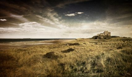 Bamburgh Castle textured by newcastlemale