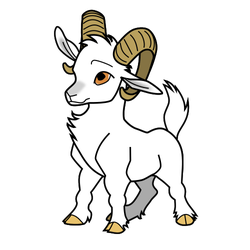 Cute Goat - Simple Color by Sunnybrook1