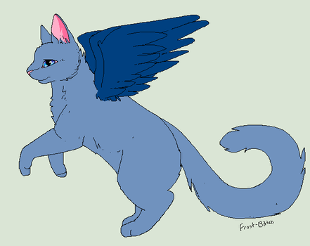 Bluewing the Winged Cat by skyclan199