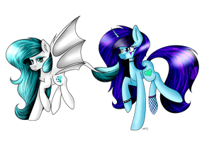 Art trade with BeckyChalsea by Moonlight0Shadow0