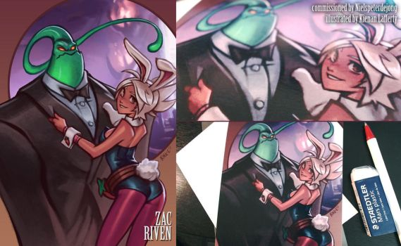 Zac and Riven League of Legends, for Niels by KNKL
