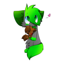 Art Trade with Cibibot by catpuns