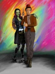Gamora and 11 by weatheredclown
