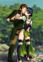 Commission: Ben x Suguha by Amenoosa