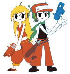 Cave Story - Quote and Curly by Guuguuguu