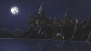 Hogwarts at Night by jcling