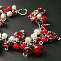 Lovely Ladybugs Charm Bracelet by Gilliauna