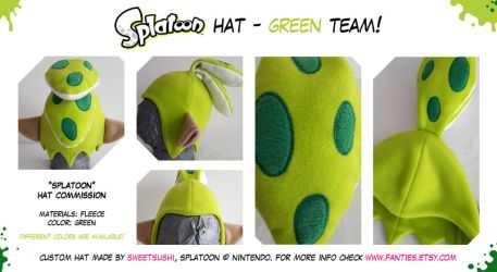 Splatoon Boy Hat - Green Team! renewed by Bathsua
