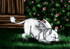 Fannlaug the Baby Sabertooth by Cattensu