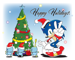 Happy holidays from Sonic! by Linkabel32