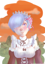 Rem RE:Zero - Starting Life in Another World by Benji-Blondie