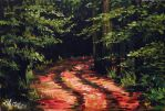 SOLD - In the woods - deep road by Miruna-Lavinia
