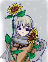 -Sunflowers and snow- by Danielle-chan