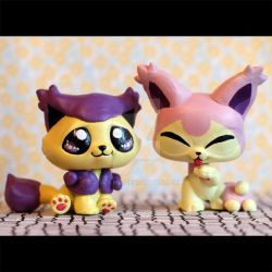 Delcatty and Skitty inspired LPS customs by pia-chu