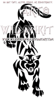 Aggressive Panther Tribal Design by WildSpiritWolf