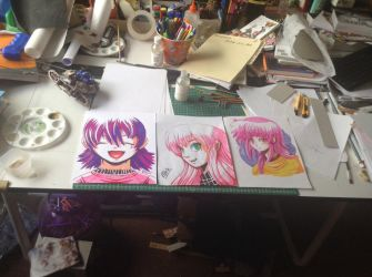 Felt Markers drawings by barkyhito
