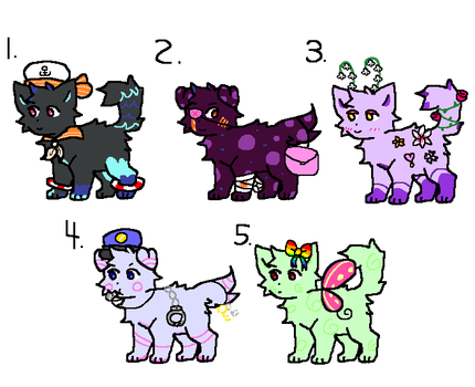 Even Even More Cat And Dog Adopts (Closed) by Lexiington