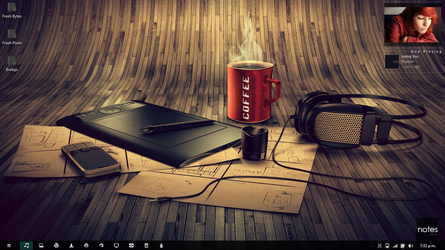 2012 Coffee and Vibes Desktop by inquisitive-snake