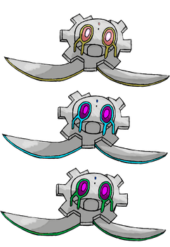 Inverted Magearna's head (Shiny + ShinyV2) by Aheradin