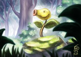 069 Bellsprout awake by 000SanS000