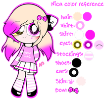 ~Nica Color Reference by Nini-the-angel-kitty