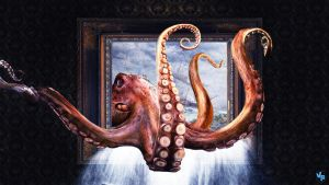 Octopus from painting by Vreckovka