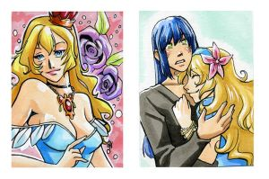 Lavender Legend Sketch Cards by glance-reviver