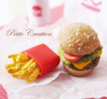 12th scale burger+fries 3 by PetiteCreation