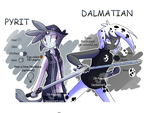 Dal And Pyrit Refs by JB-Pawstep