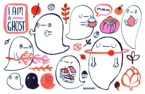 I am a ghost sticker sheet by koyamori
