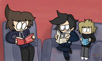 Sitting and Reading by PieLordPictures
