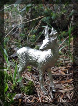 Pewter Roe Buck by Psydrache