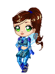 Chibi Gina [pixel doll] by Jean-Optimal