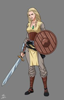 Shieldmaiden commission by phil-cho