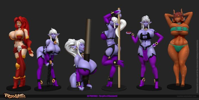 Manaworld all girls by Texelion