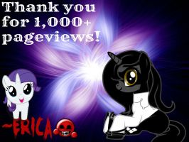 Thank you for 1000+ pageviews! by ShegoxDrakken