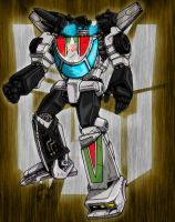 Wheeljack in Action by wordmongerer