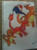 Charmander Evolution by Megalomaniacaly