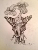 Elephant Tattoo Design by savannahrcb